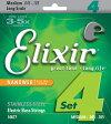 Elixir 45-105 NANOWEB Stainless Steel Medium 14677[エリクサー][ステンレススチール][コーティング][ミディアム][Long Scale,ロングスケール][ベース弦,String]