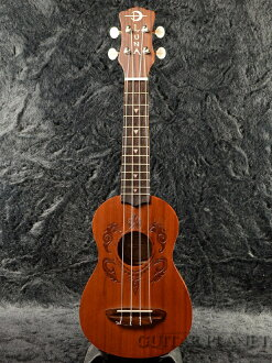 Luna Guitars UKE HONU brand new soprano ukulele [Luna] and [Natural, natural, wood grain, Heather] [Mahogany, mahogany, Soprano Ukulele