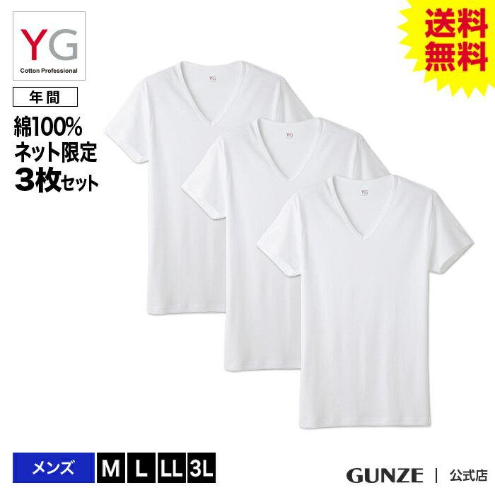 【送料無料】GUNZE(グンゼ)/YG/ネット限定お得セット YG VネックTシャツ3枚セット(V首)(紳士)/SETM081/ST01M