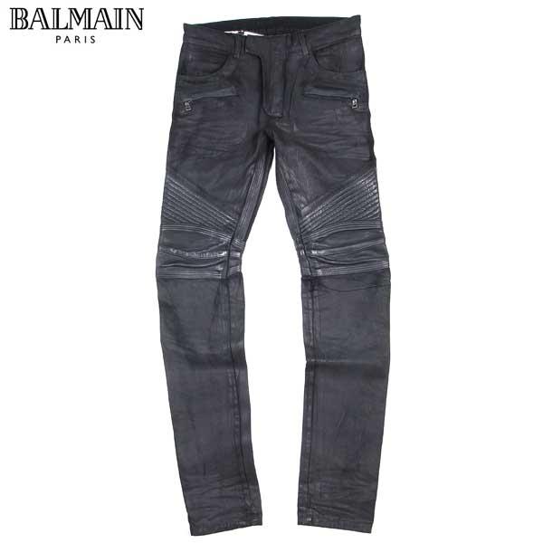 【送料無料】 バルマン(BALMAIN) メンズ バイカーズ スキニーパンツ T569 D309C 176 【楽ギフ_包装】【SALE1604】 61S