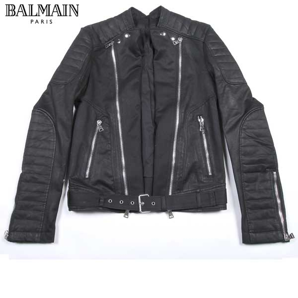【送料無料】 バルマン(BALMAIN) メンズ ライダースジャケット ブルゾン T264 D426 176 【楽ギフ_包装】【SALE1604】 61S