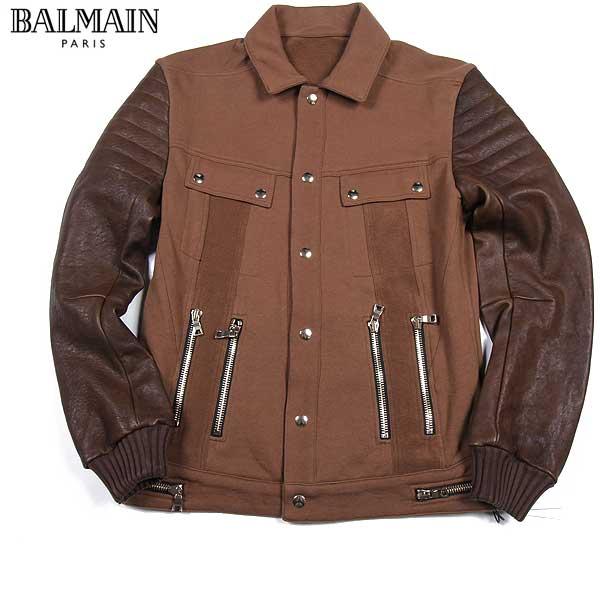 【送料無料】 バルマン(BALMAIN) メンズ ラムスキンブルゾン ジャケット J261 D322C 161 【楽ギフ_包装】【SALE1604】 61S