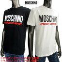 モスキーノ MOSCHINO メンズ トップス Tシャツ 半袖 ロゴ 2color ビッグMOSCHINOロゴ・ロゴタグ付きTシャツ 白/黒 A1915 8103 1/555 (R18700) 02S 2020年春夏新作【送料無料】 【smtb-TK】