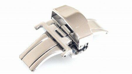 腕時計 プッシュ式 Dバックル 22mm シルバー 交換工具付