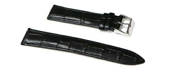 腕時計 ベルト 21mm 22mm 23mm 24mm レザー クロコダイル型押し 黒 革 sl001bk-n-s