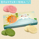 とろける生チョコクッキー12個入(苺 バニラ 抹茶)