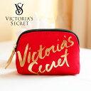 【送料無料】VICTORIA'S SECRET ヴィクトリアシークレット ビクトリア ポーチ ゴールドロゴ レッド