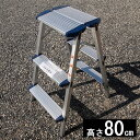 ■アルミ踏み台【EWS-80】幅広安全踏台 3段タイプ 折り...