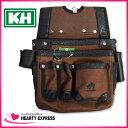 ■KH 基陽 HUMHEM 24206型 バッグ ブラウン HM24206-BR 腰袋 釘袋 茶 フムヘム 工具 小型腰袋 大工道具【05P03Dec16】
