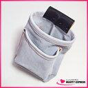 ■床革 ビス袋A ペン差付 釘袋 腰袋 ネイルバッグ 床皮 大工 職人 電工 鳶 ウェストバッグ 革