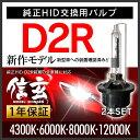 ヴォクシー ノア60系に純正交換HID D2R 白光 【送料無料】モデル信玄