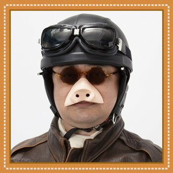 豚の鼻  [紅の豚 コスプレ ジブリ 変装 仮装 付け鼻 ブタ 動物]【B-1968_26…...:h-pumpkin:10010165