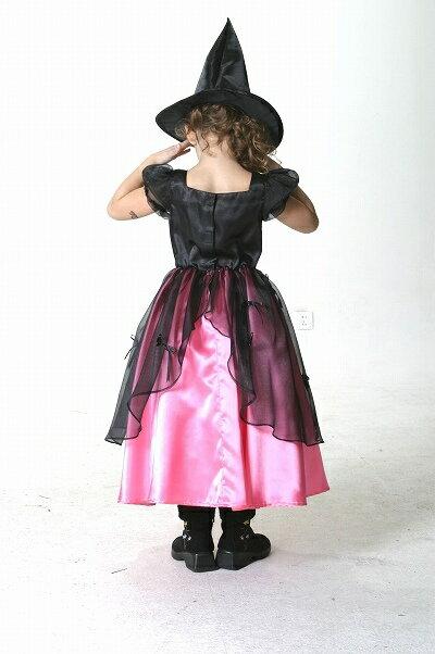 [魔女 コスプレ] メロディドレス ピンク(子供用:140cm)  [ハロウィン衣装 ハロウィーン コスチューム 仮装 子供 女の子]【431329】:イベントショップ パンプキン