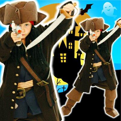 [ジャックスパロウ コスプレ] ジャックスパロウDX 子供用Todサイズ (ジャケット付き)  【ジャックスパロウ・パイレーツ・海賊】【028934】:イベントショップ パンプキン