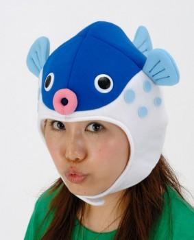 ふぐキャップ  [ふぐ かぶりもの 魚 コスプレ イベント 帽子 パーティーグッズ]【C-0235_266257】