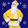 [メンズ サンタ 黄色] GOGOサンタさん(イエロー)  [サンタ コスプレ サンタ コスチューム クリスマス 衣装]【867852】