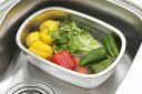 ※【下村企販】ステンレス製の小判型洗い桶 足付(キッチン/衛生的/ステンレス/洗い桶/シンク)