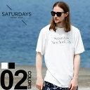 SATURDAYS SURF NYC (サタデーズ サーフ ニューヨーク) Tシャツ 綿100% ロゴプリント クルーネック 半袖 Tシャツ サタデーズサーフニューヨークメンズ カジュアル 男性 メンズファッション トップス ティーシャツ シンプル