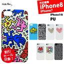 【メール便送料無料】キースヘリング for iPhone iPhoneSE(第2世代) 8/7 PUケース[iPhone 8/7専用]キースヘリング PUケース『Keith Haring Collection PU Case for iPhone 8/7』 スマホケース アフターセール!