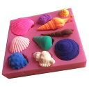 シリコンモールド シリコン 型 貝殻 10種類 DIY ハンドメイド アロマハイストーン 石膏 手作り石鹸 樹脂 粘土