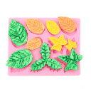 シリコンモールド シリコン 型 葉っぱ リーフ 10種 DIY ハンドメイド アロマハイストーン 石膏 手作り石鹸 樹脂 粘土