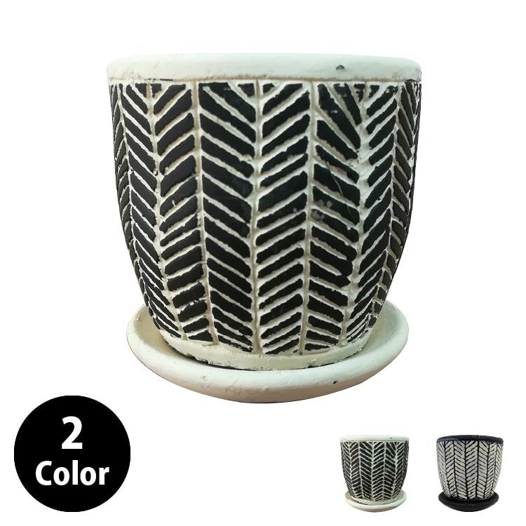 植木鉢 シャビーポット CC047-080 3号(8cm) 受け皿付き
