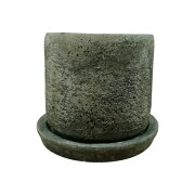 植木鉢 おしゃれ セメントポット MM004-110 4号(11cm) / 陶器鉢 アンティーク 丸型