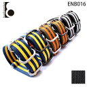 【メール便送料無料】 腕時計ベルト 腕時計バンド 替えストラップ 社外品 汎用ナイロンベルト 取付幅20/22mm (尾錠)ピンバックル付き [ Eight - ENB016 ]