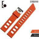腕時計ベルト 腕時計バンド 替えストラップ 社外品 汎用ラバーベルト 取付幅20mm 適用: OMEGA オメガ、SEIKO セイコー、CITIZEN シチズン (尾錠)ピンバックル付き [ Eight - ERB098 ]