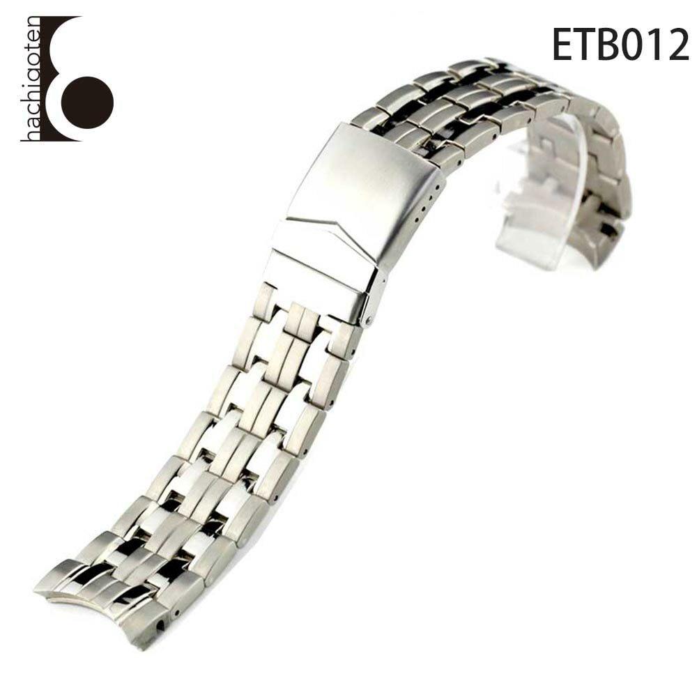 腕時計ベルト 腕時計バンド 替えストラップ 社外品 汎用チタンベルト 取付幅24mm (尾錠)Dバックル付き [ Eight - ETB012 ] チタンベルト シルバー メンズ ユニセックス [ETB012]