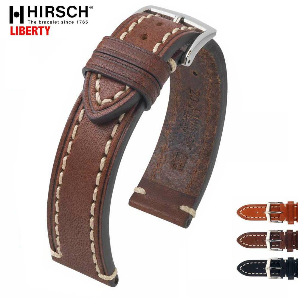HIRSCH ヒルシュ LIBERTY(リバティ) 3色 腕時計ベルト カーフ1枚革 18mm/20mm/22mm/24mm