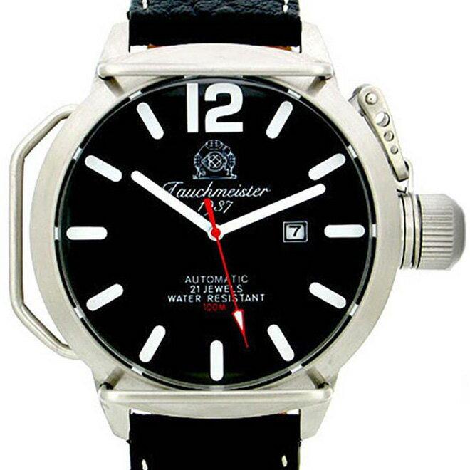 Tauchmeister 1937 トーチマイスター 1937 自動巻き 腕時計 メンズ ダイバーズウォッチ U-BOOT(ユーボート)[T0132] 並行輸入品 メーカー保証24ヶ月&純正ケース付き メンズウォッチ デカ厚 多機能 腕時計/夜行表示/防水機能 防水時計