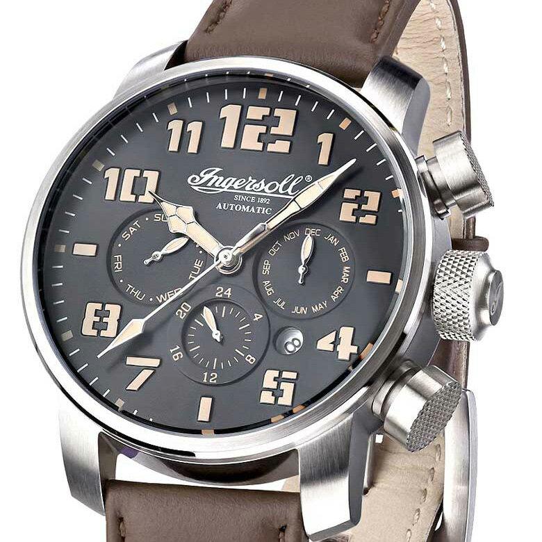 Ingersoll インガーソル クラシックシリーズ  Colby ドイツデザイン 自動巻 IN1224SBK [並行輸入品] メンズウォッチ  多機能 腕時計 自動巻 カレンダー