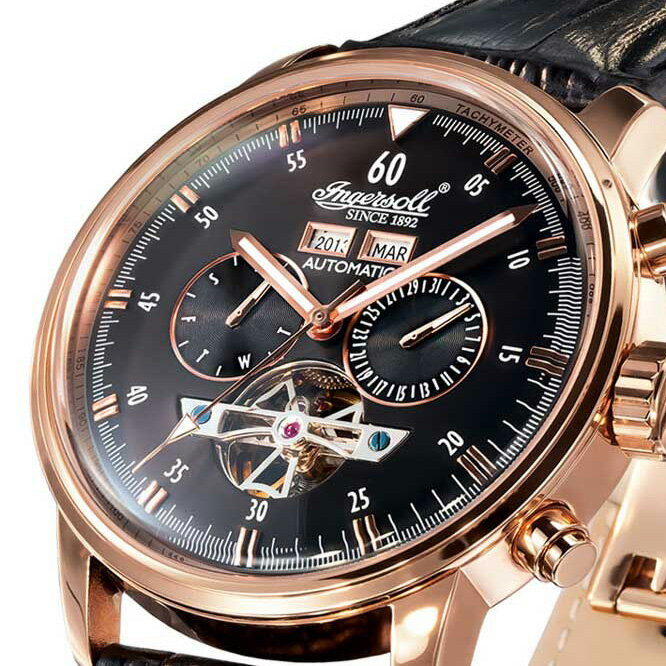 Ingersoll インガーソル/インガソール クラシックシリーズ  Okies ドイツデザイン カレンダー 自動巻きIN4511RBK [並行輸入品] メンズウォッチ  多機能 腕時計 カレンダー  自動巻