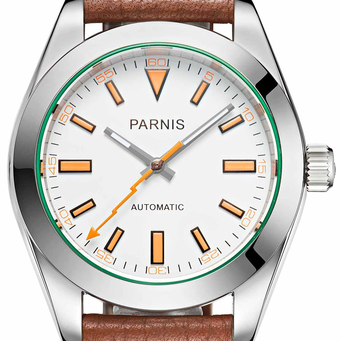 【NEW】PARNIS パーニス クォーツ 腕時計 メンズ [PA2107-S3AL-WHBR] 並行輸入品 メーカー保証【新生活応援】 メンズウォッチ 海外 ブランド 腕時計 自動巻き 機械式