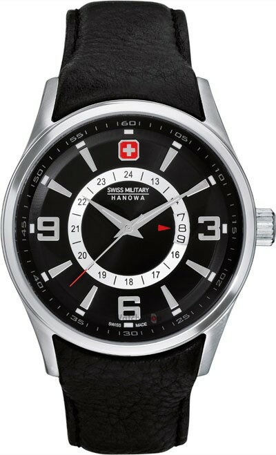 SwissMilitaryHanowa スイスミリタリーハノワ クォーツ 腕時計 メンズ ウォッチ [06-4155-04-007] 並行輸入品 国際保証24ヵ月 純正ケース付き メンズウォッチ 多機能 腕時計/夜行表示/ベゼル