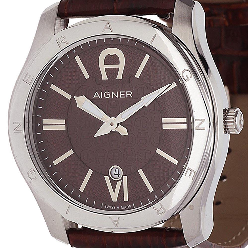 AIGNER アイグナー クォーツ 腕時計 ドイツブランド ファッション [A42117A ] 並行輸入品 純正ケース メーカー保証 メンズウォッチ スイス 海外 輸入時計 腕時計/夜行表示/ベゼル/防水機能 防水時計/カレンダー デイト