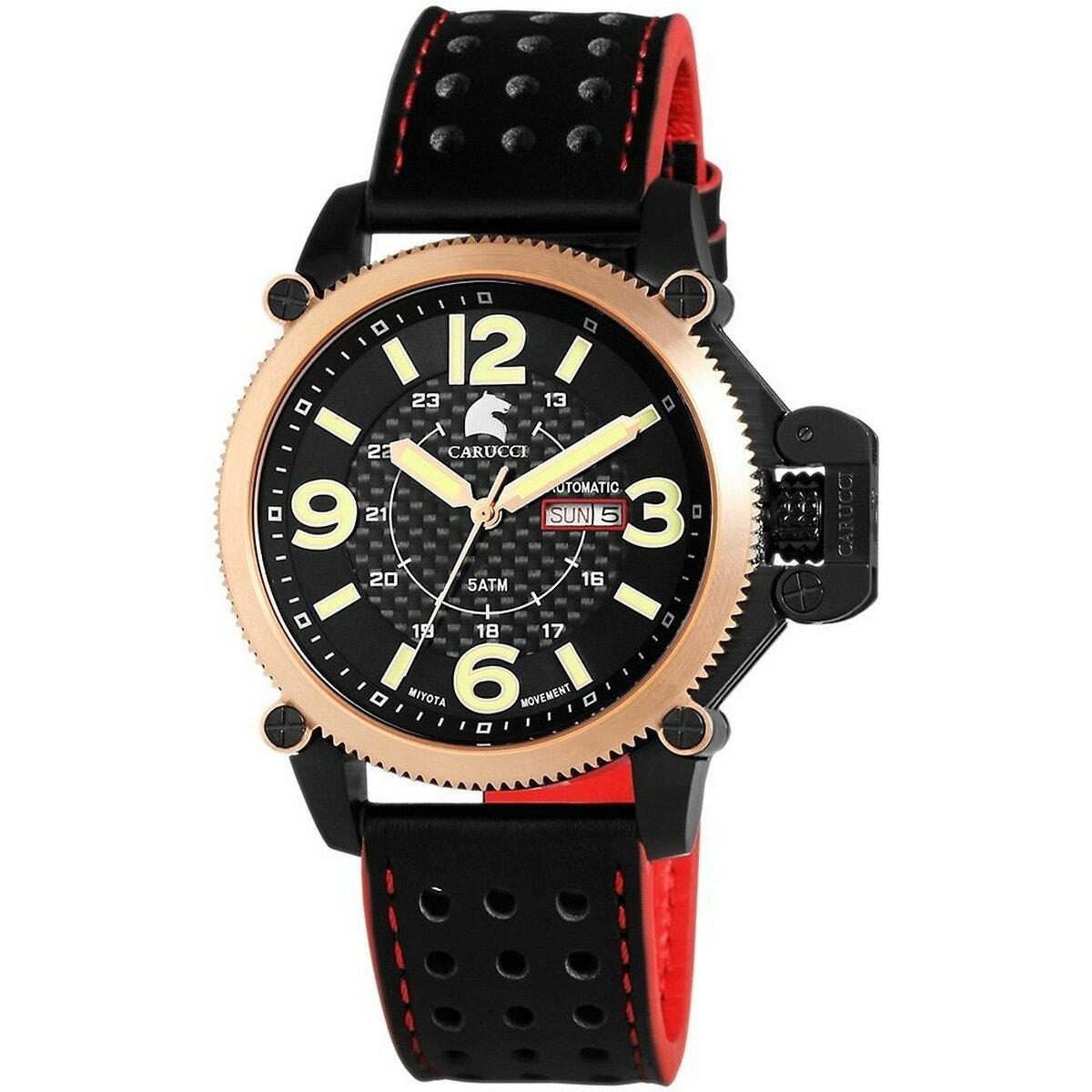 Carucci カルッチ 自動巻き 腕時計 メンズ [CA2191RG] 並行輸入品 メーカー国際保証24ヵ月 純正ケース付き メンズウォッチ海外 個性派 腕時計/パワーリザーブ
