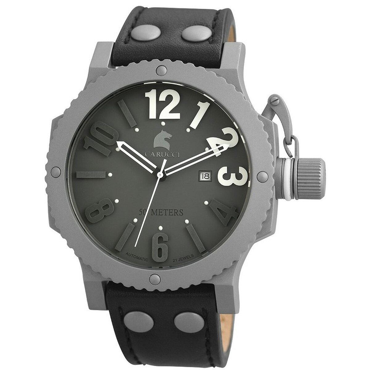 Carucci カルッチ 自動巻き 腕時計 メンズ [CA2211GR-BK] 並行輸入品 メーカー国際保証24ヵ月 純正ケース付き メンズウォッチ海外 個性派 腕時計【腕時計 置き おしゃれ】
