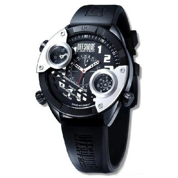 OFFSHORE LIMITED オフィショアリミテッド クォーツ 腕時計 メンズ [OFF010A] 並行輸入品 メーカー保証24ヵ月 純正ケース付き メンズウォッチ デカ厚 デザイナーズウォッチ 腕時計/防水機能 防水時計/GMT ワールドタイム セカンドタイム