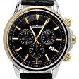 1291 Watches スイス製 腕時計 メンズ 1291 Classico Chrono (Black-Gold) クロノグラフ [1291CBG] 並行輸入品 メーカー国際保証24ヵ月 純正ケース付き【10P03Dec16】