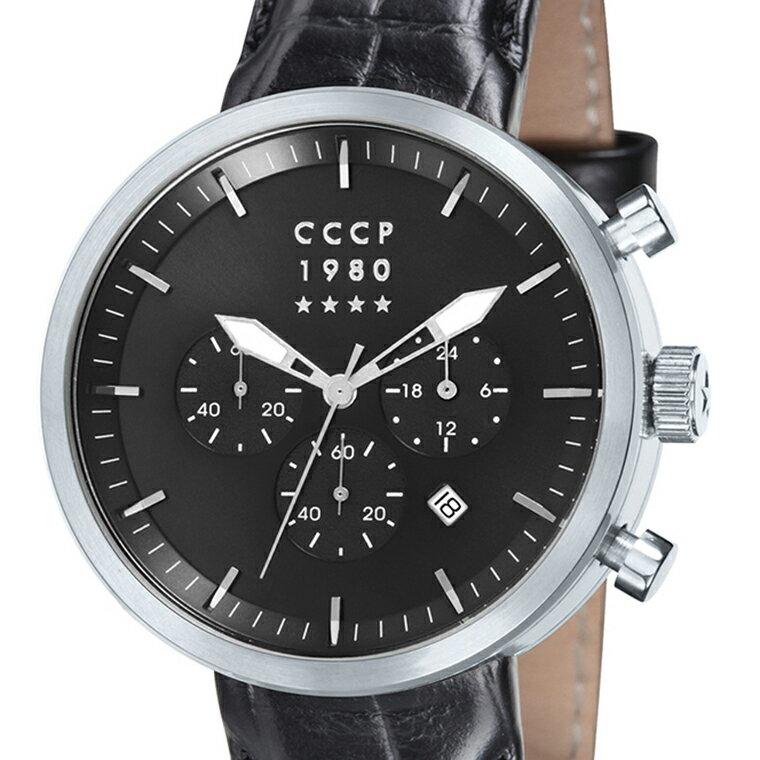 CCCP シーシーシーピー(エスエスエスエル) クォーツ 腕時計 メンズ ファッション ロシア [CP-7007-02 ] 並行輸入品 純正ケース メーカー保証24ヶ月【新生活応援】 メンズウォッチ 海外 輸入時計 腕時計/夜行表示/防水機能 防水時計/クロノグラフ ストップウォッチ/カレンダー デイト