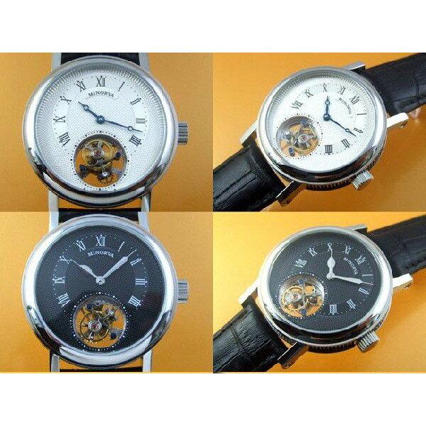 MINORVA ミノルヴァ 手巻き 腕時計 メンズ [MTB015] 並行輸入品 国際保証24ヵ月 収納ケース付き メンズウォッチ 海外 クラシック 腕時計/トゥールビヨン