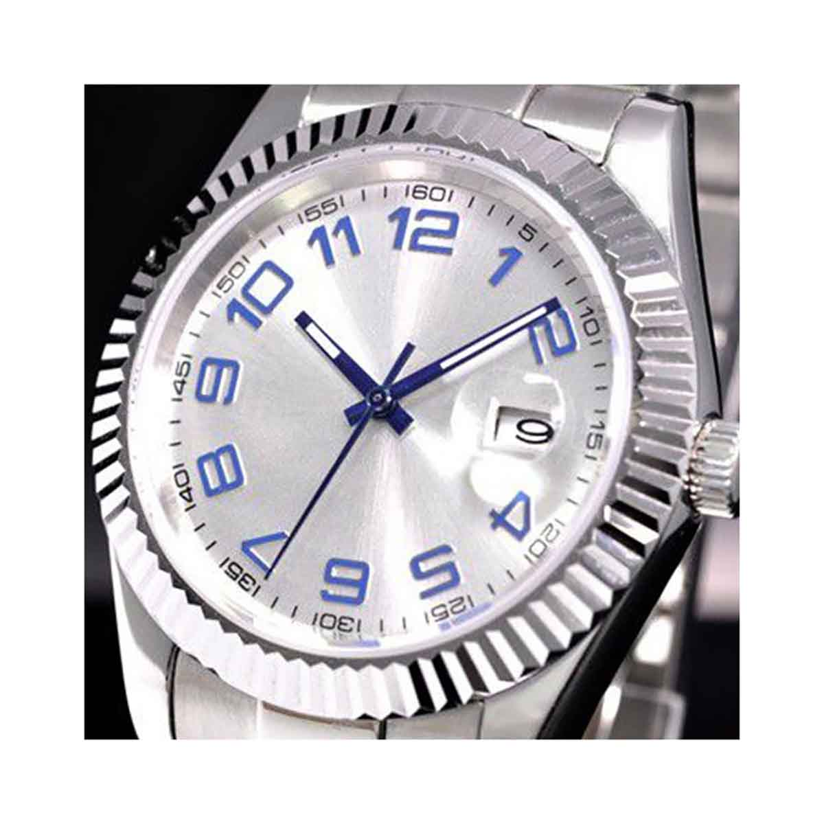 NOLOGO ノーロゴ 自動巻き  腕時計 メンズ [NL-036SW3AS] 並行輸入品 メーカー保証24ヶ月【新生活応援】 メンズウォッチ おしゃれ 腕時計/夜行表示/防水機能 防水時計/カレンダー デイトユニークな形状