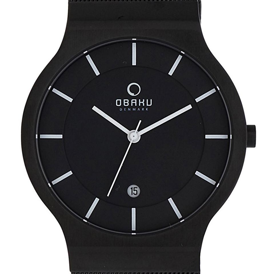 OBAKU オバック クォーツ 腕時計 デンマーク シンプル 薄型 ファッション [V133GDBBMB] 並行輸入品 純正ケース メーカー保証【新生活応援】 ウォッチ 北欧 海外 輸入時計 腕時計/防水機能 防水時計