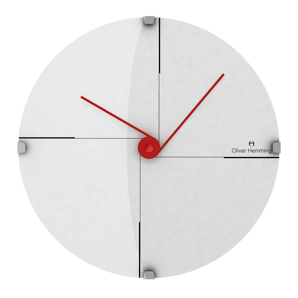 Oliver Hemming オリバーヘミング 壁掛け時計 インテリア 北欧 Vitri Domed Glass ヴィトリドームガラス 300mm [W300DG9W] 正規品