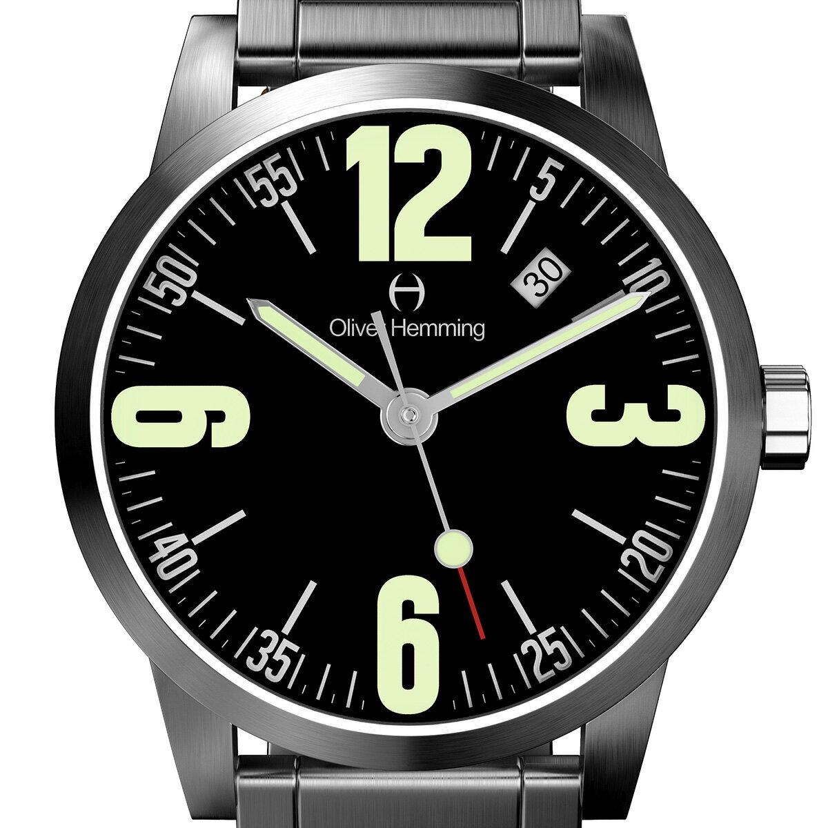 Oliver Hemming オリバーヘミング クォーツ 腕時計 イギリス アート デザイン [WT17SB66BCDSB] 並行輸入品 純正ケース メーカー保証【新生活応援】 メンズウォッチ イギリス 海外 輸入時計 腕時計/夜行表示/防水機能 防水時計小さな
