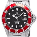 【残り1点】Revue Thommen レビュートーメン 自動巻き(手巻き機能あり) 腕時計 [17571-2136] 並行輸入品 デイト 逆回転防止ベゼル ダイバーズ