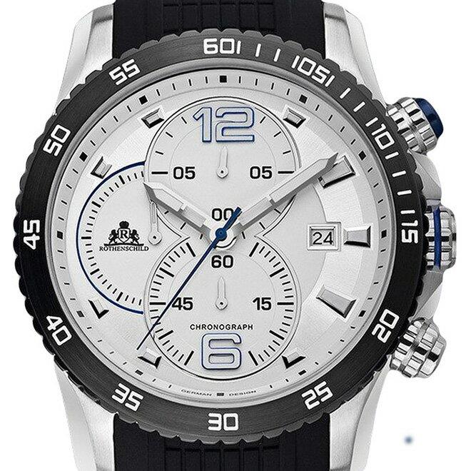 Rothenschild ローテンシルト  腕時計 メンズ [rs-1102-w] 並行輸入品 メーカー保証24ヵ月 純正ケース付き メンズウォッチ 海外 ブランド 腕時計/防水機能 防水時計/クロノグラフ ストップウォッチ