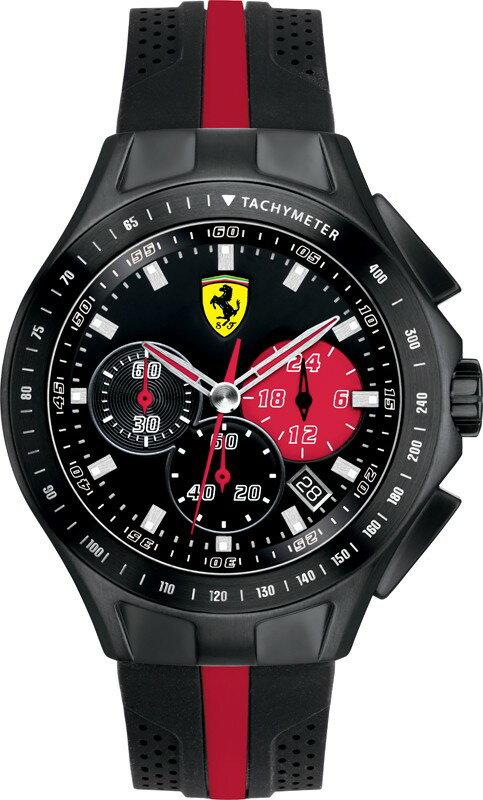 Ferrari フェラーリ クォーツ 腕時計 メンズ スポーツウォッチ [SF830023] 並行輸入品 メーカー国際保証24ヵ月 純正ケース付き メンズウォッチ 多機能 スーパーカー 腕時計/ベゼル/クロノグラフ ストップウォッチ/カレンダー デイト/24時間表示